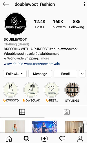 doublewoot, fashion, clothing, online store, instagram