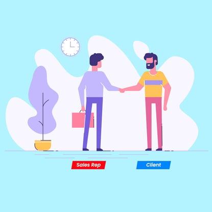 client, sales representative, meeting, discussion, landing page blind spots